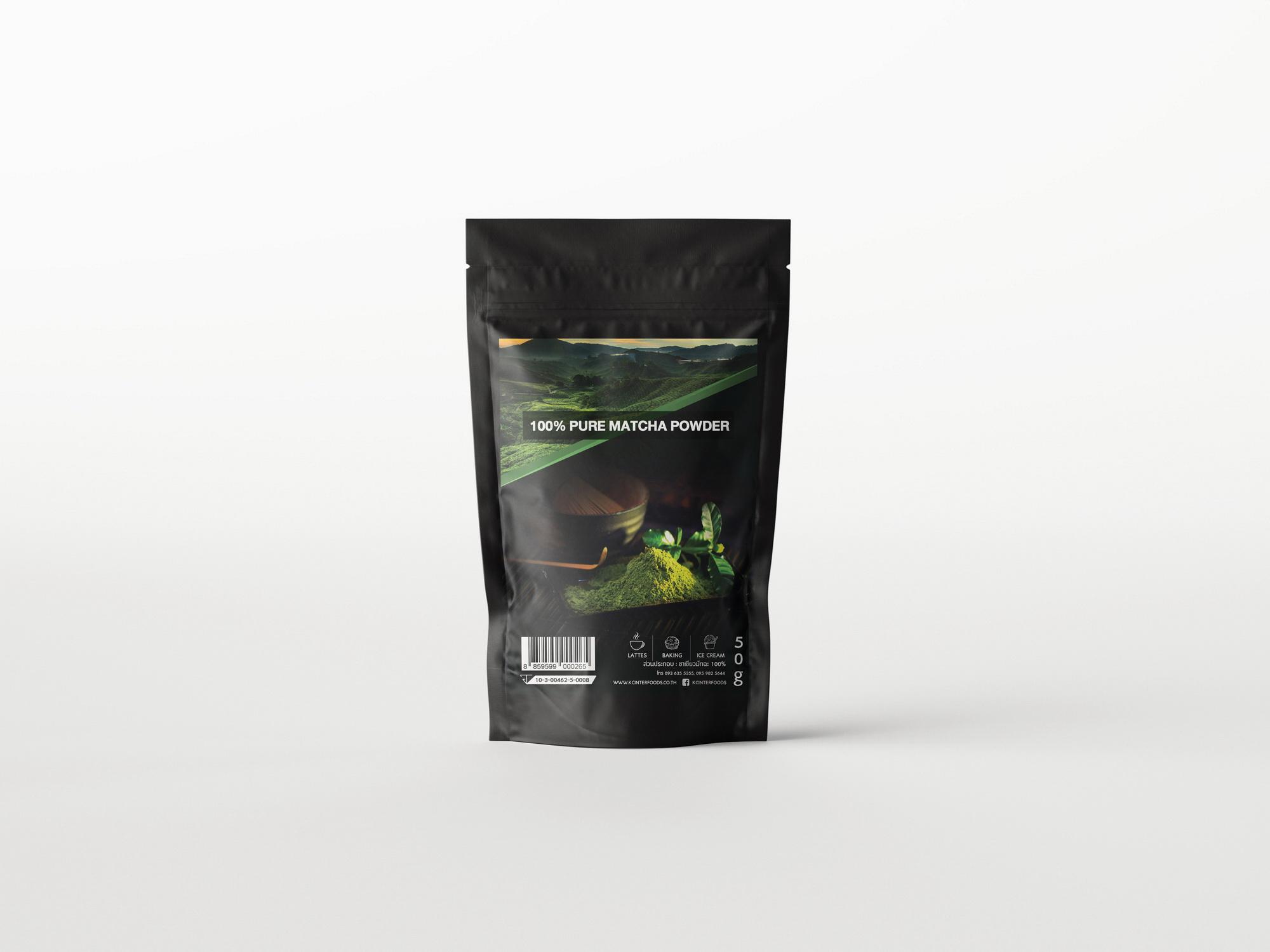 ผงชาเขียวมัทฉะ 100% สูตรพรีเมี่ยมโกลด์